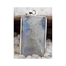 Moonstone Semi Precious Gemstone in 925' Sterling Silver Pendant