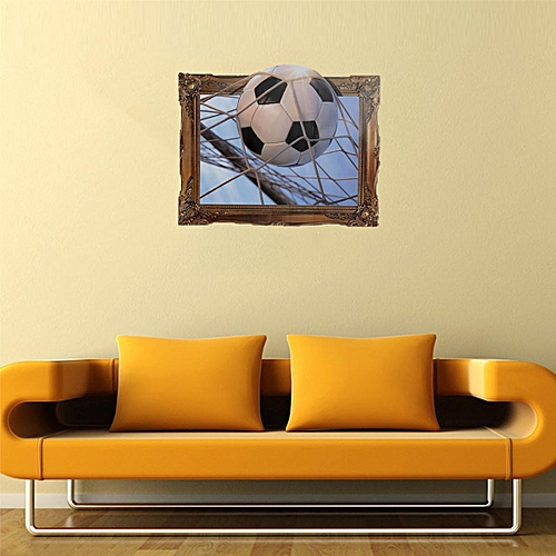 Generic 3D Play Football Soccer World Cup Removable Wall Decal Sticker Mural Home Decor 4560CM