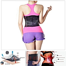 Deluxe Double Pull Lumbar Lower Back Pain Reliever Support Brace Waist Belt [XL