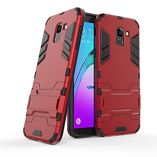 check out 52744 7c3ad For Samsung Galaxy J6 2018 EU Heavy Duty Shockproof Hybrid TPU Armor Stand  Rubber Back Cover For Galaxy J6 2018 EU Rugged Case