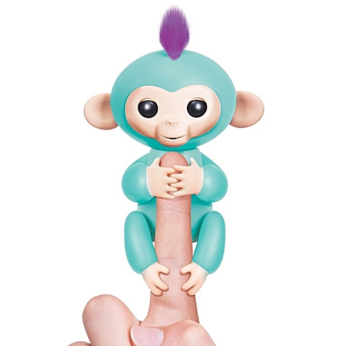 Generic HP Cute Robert Baby Monkey Sound Finger Motion Hanger Toy for Children Gifts Green