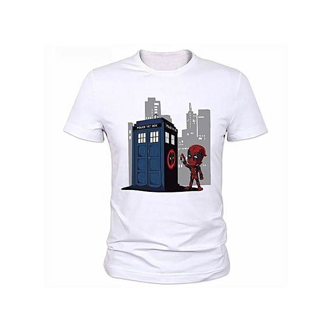 02c690c8 High Quality New Men Funny Superhero Printed T-shirts Design Canada  Deadpool T Shirt Casual