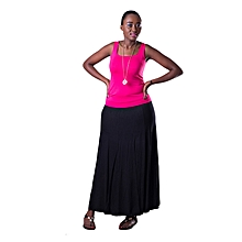 Black A-Line Maxi Skirt
