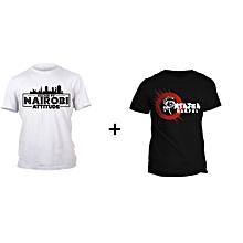 Nairobi White T-shirt Design and Black Hamjui T-shirt Design