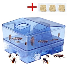 3 Doors Pest Control Tool Roach Trap Container Collect & Killer Catcher Box