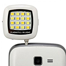 Selfie Plug-in 16 LED Light with USB charger