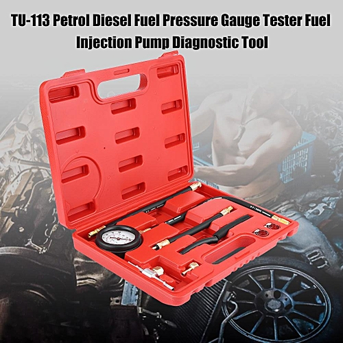 TU-113 Petrol Diesel Fuel Pressure Gauge Tester Fuel Injection Pump  Diagnostic Tool