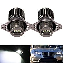 2PCS 20W LED Angel Eye Halo Ring Light Bulb Xenon White Error Free For BMW