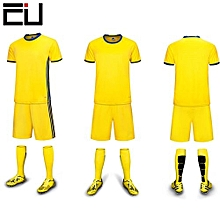 Customized Youth Men's Football Soccer Team Sports Shirts Shorts Jersey-Yellow(6109)