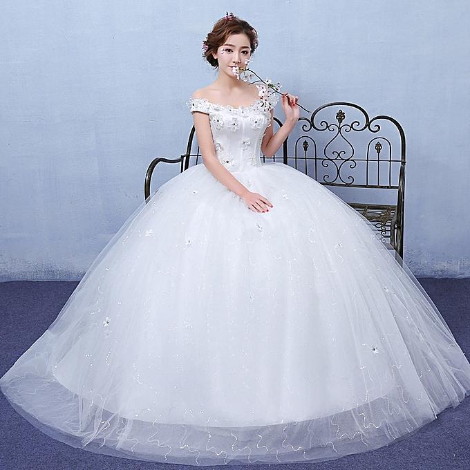 AFankara Classic Ball Gown Wedding Dresses-White @ Best
