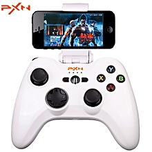 PXN - 6603 MFi Certified Wireless Bluetooth Game Controller Joystick Vibration Handle Gamepad for iPhone / iPad / iPod Touch / Apple TV WHITE