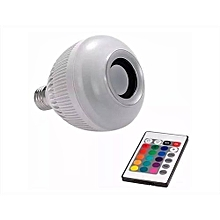 Bluetooth music bulb with remote control-White
