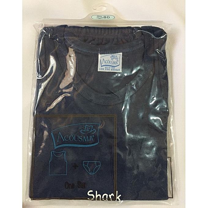 d14a0f3d7ce3 Acousma Baby Set (Dark Navy Blue) Vest and briefs   Best Price ...
