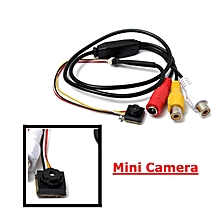 600 TVL Mini Camera Security CCTV Wired Audio For Home Car Office Surveillance