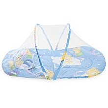 Collapsible Mosquito Insect Net Soft Cushion for Babies-BLUE