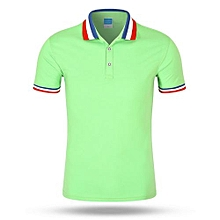 Tipping Collar And Cuff Polo Shirt (Light Green)