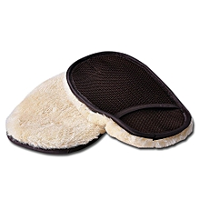 Single-sided Wool cashmere Car Wash Glove Cleaning Mitt Washing Brush
