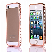 Luxury Crystal Rhinestone Faux Diamond Metal Case Cover Bumper For iPhone 5/5S-Array