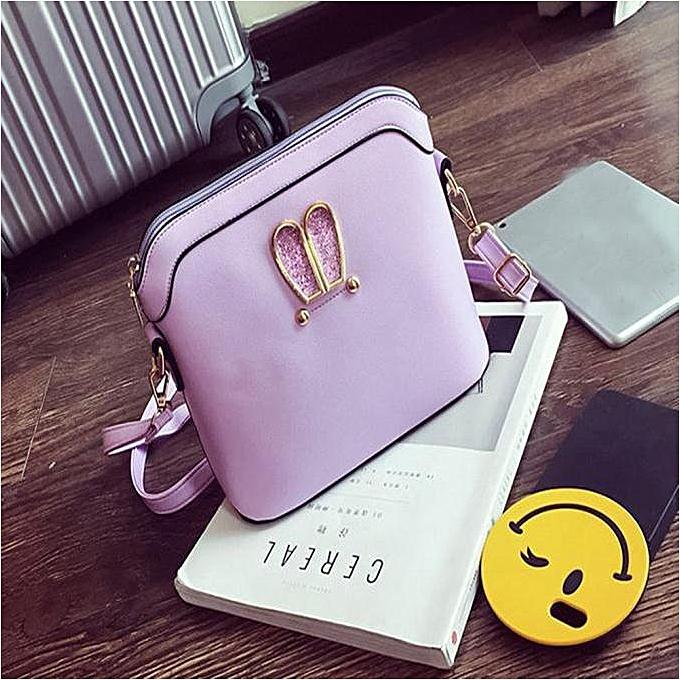 Women Girl Rabbit Ears Sweet Cameo Shell Handbag Shoulder Messenger Bag PP 48f92e801a20f