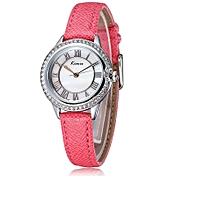 Red Roman Number Rhinestone Watch