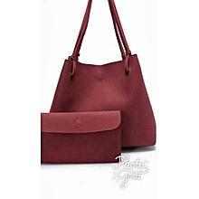 Bucket Handbag - Maroon