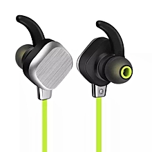 Bluetooth Earphone,Wireless Headphones Bluetooth 4.1 In-ear Sports Earphone Headset Stereo HiFi With Microphone Anti-sweat Magnet Adsorption For Smartphone Tablet PC  (Color:Green)