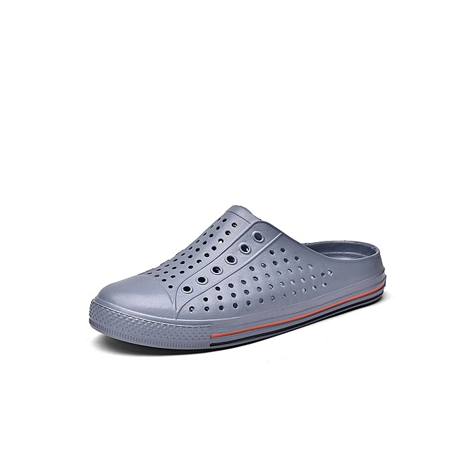 10aa61d39228bd Refined Super Large Size Men s hole shoes Male and female couples slippers breathable  beach