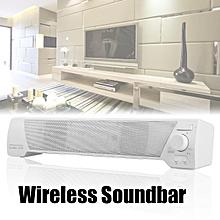 TV Sound Bar Home Theater Subwoofer Soundbar Bluetooth Wireless AUX USB Speaker Black/White