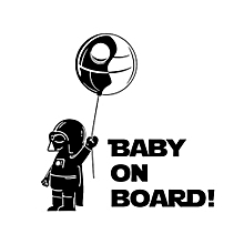 Cute Refective Car Sticker Baby on Board Styling Safety Warning