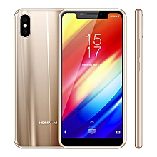 HOMTOM H10, Dual 4G, 4GB+64GB, Dual Back Cameras, Face ID & Side-Mounted Fingerprint Identification, 5.85 inch Android 8.1 MTK6750T Octa Core up to 1.5GHz, Network: 4G, Dual SIM, OTG, OTA(Gold)