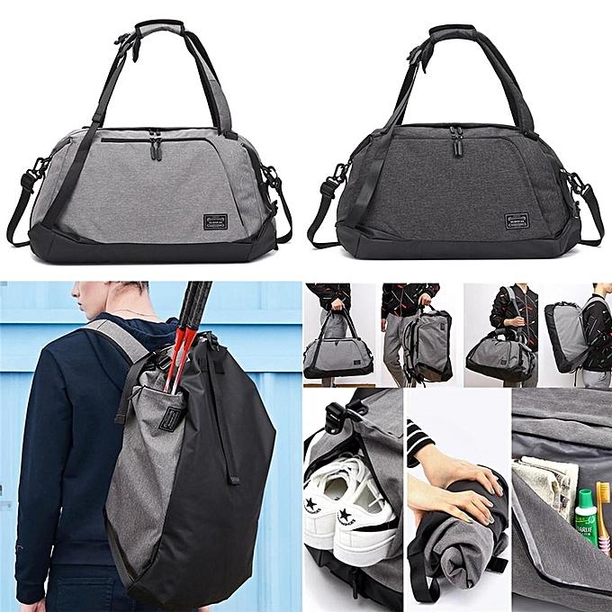 Generic Men Multifunction Foldable Travel Backpack Duffel Holdall