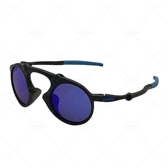 0959be4088 Oakley Madman Dark Carbon Polarized Sunglasses OO6019-05 - Black Blue  Iridium