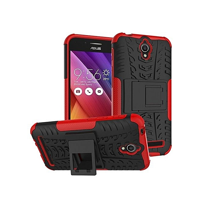 ... 2 IN 1 HYBRID ARMOR DESIGN SHOCKPROOF TOUGH RUGGED DUAL LAYER CASE COVER WITH BUILT IN KICKSTAND WHITE INTL. Mooncase Mooncase Case For Asus Zenfone Go ...