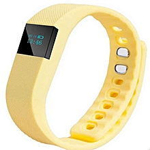 Smartband Fitness Tracker Bluetooth 4.0 Wristband Smart Pedometer Bracelet For IPhonefor Samsung  (Color:Yellow)