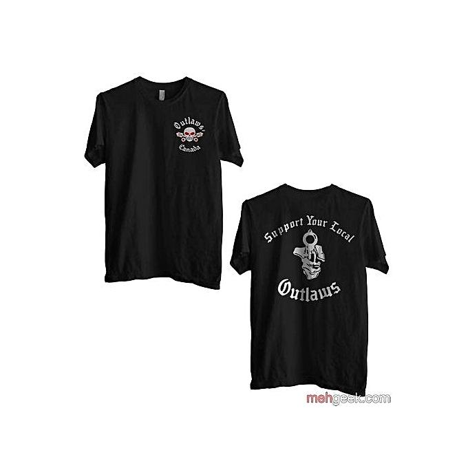 Outlaws Mc Shirt Casual T Shirt Printed Tops O Neck Tee Shirt