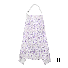 Baby Breastfeeding Cover Mum Cotton Nursing Udder Apron Shawl Cloth- Purple B