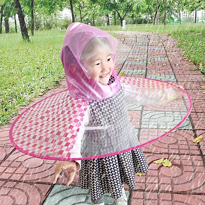 singedan shop Foldable Cute Raincoat UFO Children Umbrella Hat Magical  Hands Free Raincoat RDS ebeea9490b11