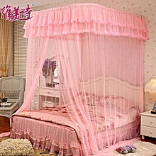 Lovely 2 stand Mosquito Net with Metallic Stand - pink