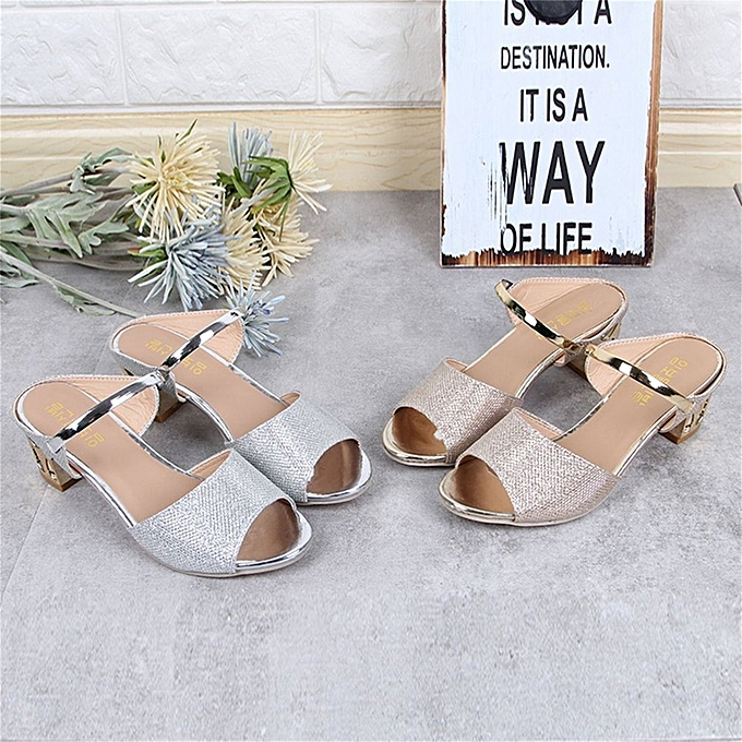 d9bcb753d517 ... TB Women Casual Sandals Soft PU Platform Wedges Thick Mid-heeled Shoes  Peep-toe
