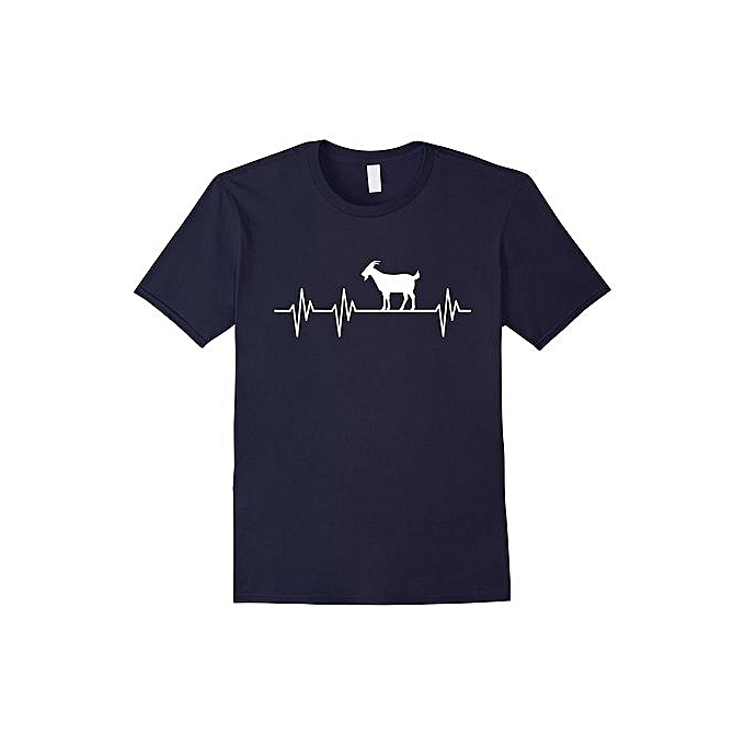 68d9d9eb Goat Heartbeat Funny Goat Lover T Shirt Gift Men's Short Sleeve T-shirt  Cotton T