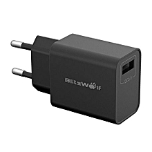 BlitzWolf BW-S9 18W USB Charger Adapter With 2.4A 1m Micro USB Cable EU Black