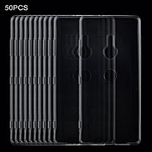50PCS 0.75mm Transparent TPU Case for Sony Xperia XZ3 (Transparent)