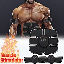 Muscle Stimulator Training Gear ABS Trainer Fit Body Home Workout Exercise AU Black