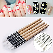 Manicure Tools Nail Art Pen Nail Soft Silicone Embossed Pen Set 5 Only