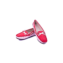 Red Slip On Women's Loafers