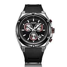 2073 Men Watch Quartz Sport Simple Wristwatch Silicone Strap Life Waterproof Calendar Fashion Casual Male Multifunctional Watches Relogio Masculino