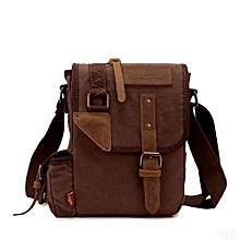 AUGUR Men's Canvas Casual Bag Single Shoulder Messenger Bags Korean Style Business Pouch Bags(Coffee)