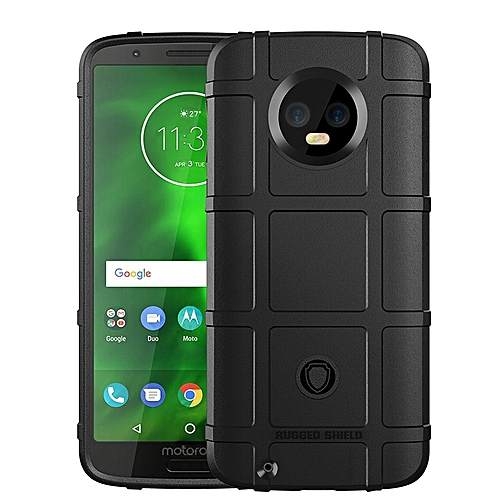 quality design bab74 d7794 Motorola Moto G6 Case Rugged Shield Silicone Heavy Duty Armor Shock-Proof  Protective Case Cover