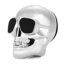 X18 Skull Bluetooth Speaker Portable Wireless Player  - Silver