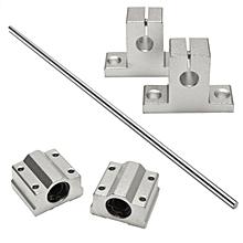 8mm x 500mm Linear Shaft Rail Rod Bearing Slide Support Set For CNC / 3D Printer